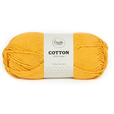 Adlibris Cotton lanka 100g Yellow Mustard A088