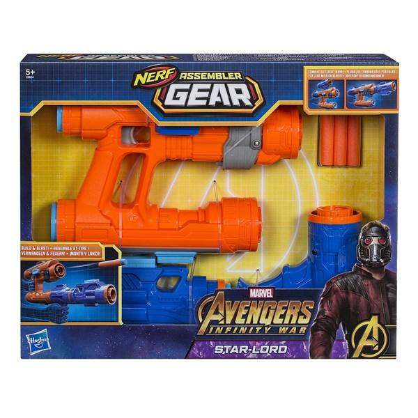 Avengers Infinity War Assembler Gear Starlord  Nerf - uteleksaker & sportleksaker