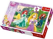 """Disney Princess """"Rapunzel, Merida, Ariel och Snövit""""- Pussel, 30 bitar, Trefl"""