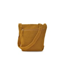 Ceannis Crochet Collection Cross Body Bag Yellow