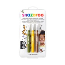 Ansiktsmaling Snazaroo Brush Pen Jungle Row sett 3