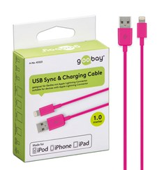 USB Laddarkabel Apple Lighting Rosa