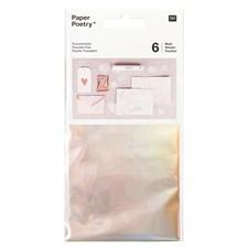 Överföringsfolie, regnbågsskimrande 6 pack, 90 x 150 mm