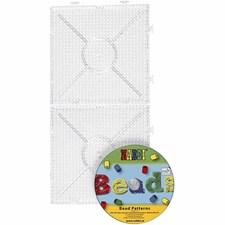 Pärlplattor med CD 15x15 cm Transparent 2 st