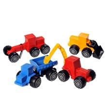 Anleggsmaskiner, 4-pack, 17-20 cm, Plasto