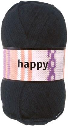 Happy Garn Ullmix 100 g Svart (52104)