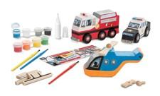 Dekorer dine egne redningskjøretøy, Melissa & Doug