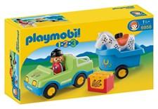 1.2.3 Bil med hästsläp, Playmobil