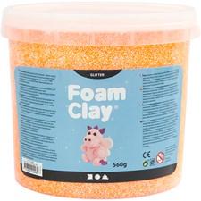 Foam Clay® , orange, glitter, 560g