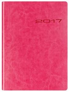 Kalenteri A6 2017 Letts Lecassa viikkoaukeama roosa