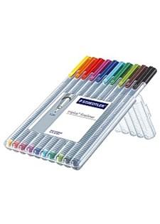 Fineliner STAEDTLER triplus 10 farger