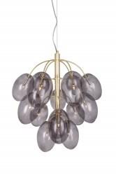 Globen Lighting Drops Taklampa B50 D50 15xG4 8W Mässing   Rök  Globen Lighting AB