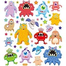 Klistermärken Glitter Monster 1 Ark