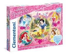 Disney Princess, Glitter pussel, 104 bitar