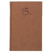 5-årsdagbok Konstläder Burde Cognac