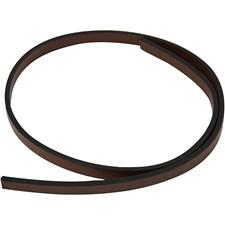 Imitert lærbånd, B: 10 mm, tykkelse 3 mm, 1 m, brun