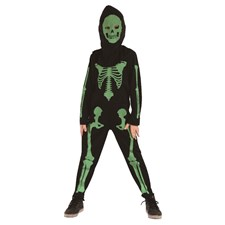 Barndräkt Skelett Grön Medium