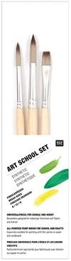 Art School setti, synteettiset siveltimet, 3 kpl