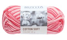 Novita Cotton Soft Color Bomullsgarn 50 g pion 857