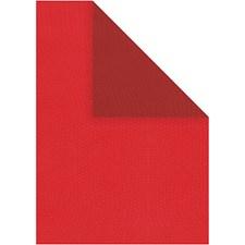 Strukturpapper, A4 210x297 mm, 100 g, 20 ark, röd/vinröd
