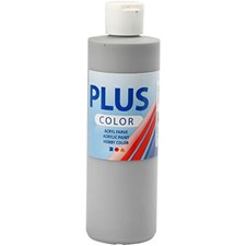 Plus Color-askartelumaali, 250 ml, sateenharmaa