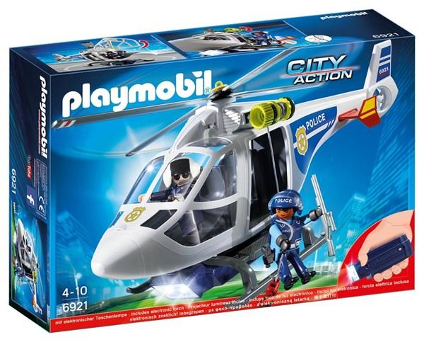 Politihelikopter med LED-søkelys, Playmobil City Action (6921)