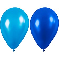 Ballonger, blå, dia. 23 cm, 10stk.