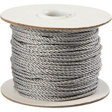 Snor, tykkelse 2 mm, 50 m, sølv