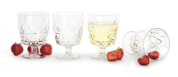 Sagaform Outdoor Eating Picnic Glas 4-pack 15 cl Klar