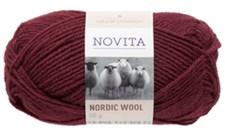 Novita Nordic Wool Lanka Villasekoite 50 g, tumma rubiini 590