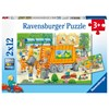 Garbage Disposal and Street Cleaning Underway Palapelit 2x12 palaa Ravensburger