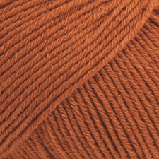 Drops Cotton Merino Uni Colour Garn Ullmix 50g Rust 25