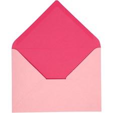 Kuvert, stl. 11,5x16 cm, 100 g, 10 st., rosa