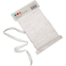 Spetsband 10 mm x 10 m Vit
