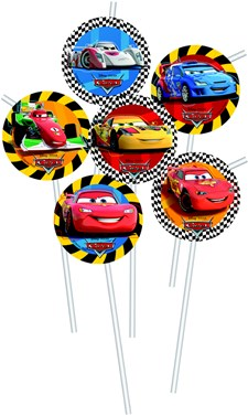 Disney Cars Sugrör, 6 st