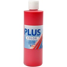 Plus Color-askartelumaali, 250 ml, karmiininpunainen