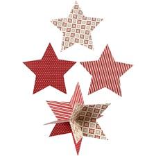 Kartong till 3D Stjärna dia 15 cm 3 st