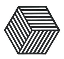 Zone Hexagon Grytunderlägg 14x16 cm Silikon Svart
