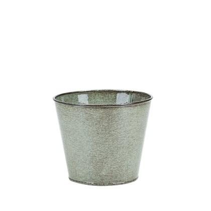 Kruka Metall Grön 13x15 cm