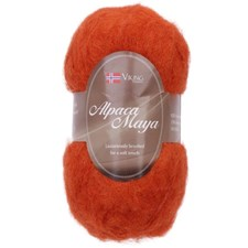 Viking of Norway Alpaca Maya 50 gr Oransje 751