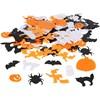 Halloween paljettmix, stl. 10-20 mm, 250 g
