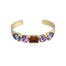 River Armband Brunt/Lavendel/Guld