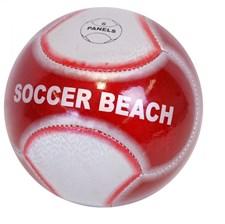 Strandfotboll, Röd/vit/svart, 20 cm