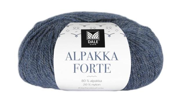 Dale Garn Alpakka Forte Garn 50 g Denim melert 707