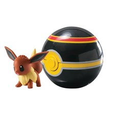 Clip 'n' Carry Ball, Eevee + Luxury Ball, Pokémon