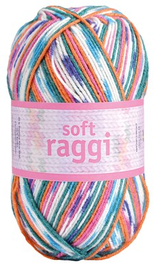Soft Raggi 100g Orange print (31206)