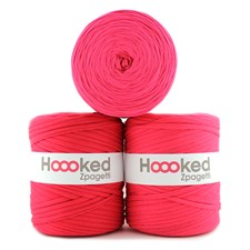 Hoooked Zpagetti Garn Återvunnen bomull ca 900g Super pink shades (ZP001-4)