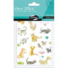 Mimi Stick', Pakke 4 ark 10,5 x 16 cm, Katter, 86 klistremerker
