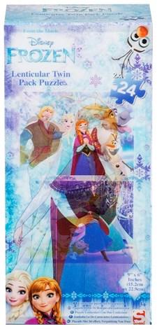 Puslespill, 2 x 24 brikker, Disney Frost