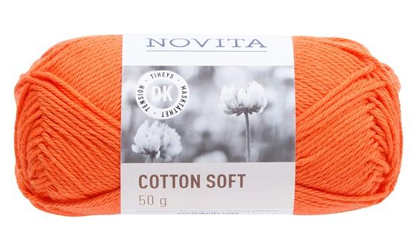 Novita Cotton Soft puuvillalanka 50 g mandariini 279